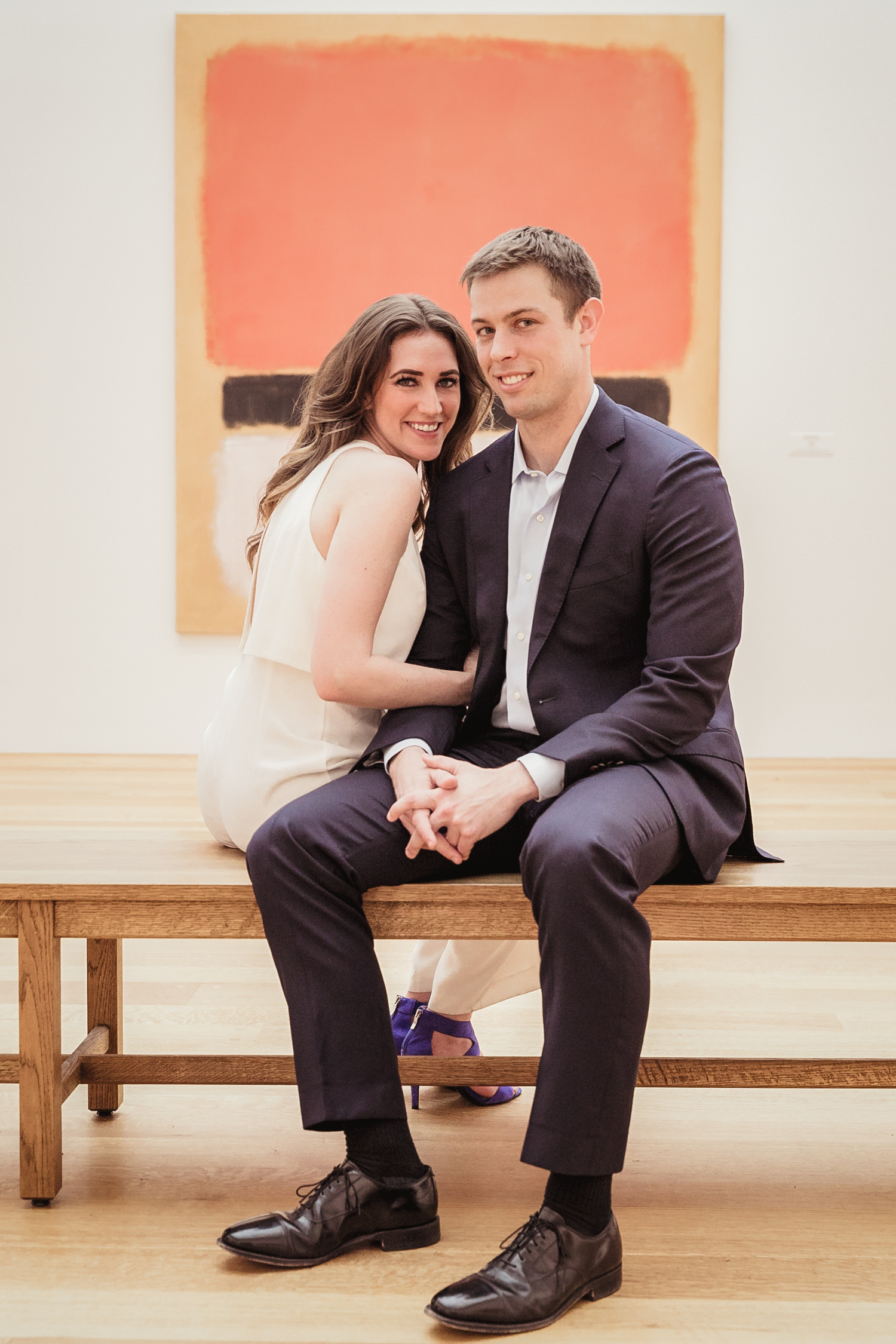 image of engagement at East Wing of National Gallery in Washington DC