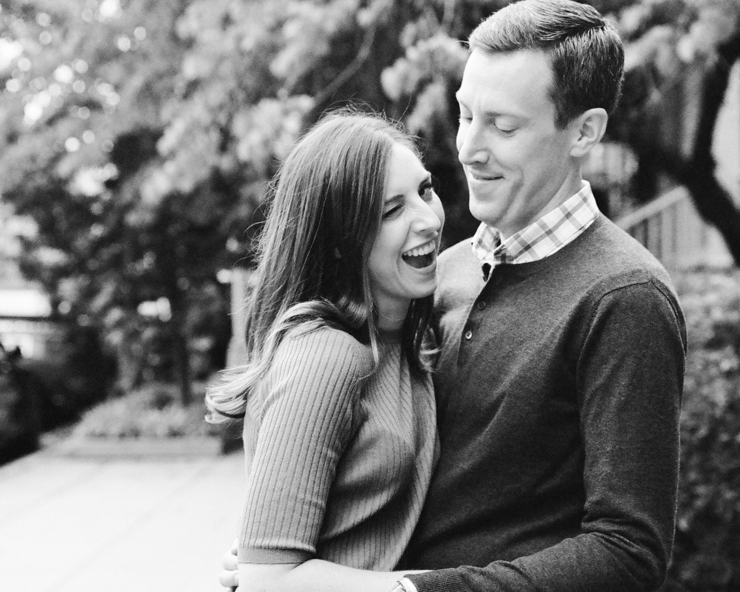 engagement portraits at Meridian Hill Park in Washington DC
