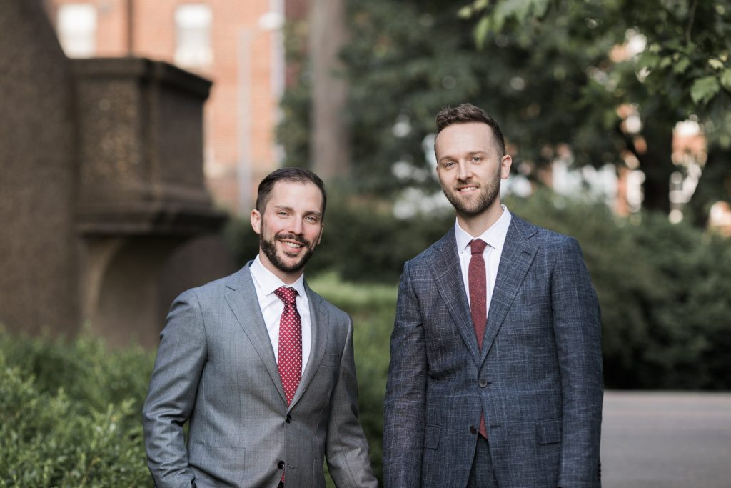image of same sex couple wedding at Meridian Hill park in Washington dc