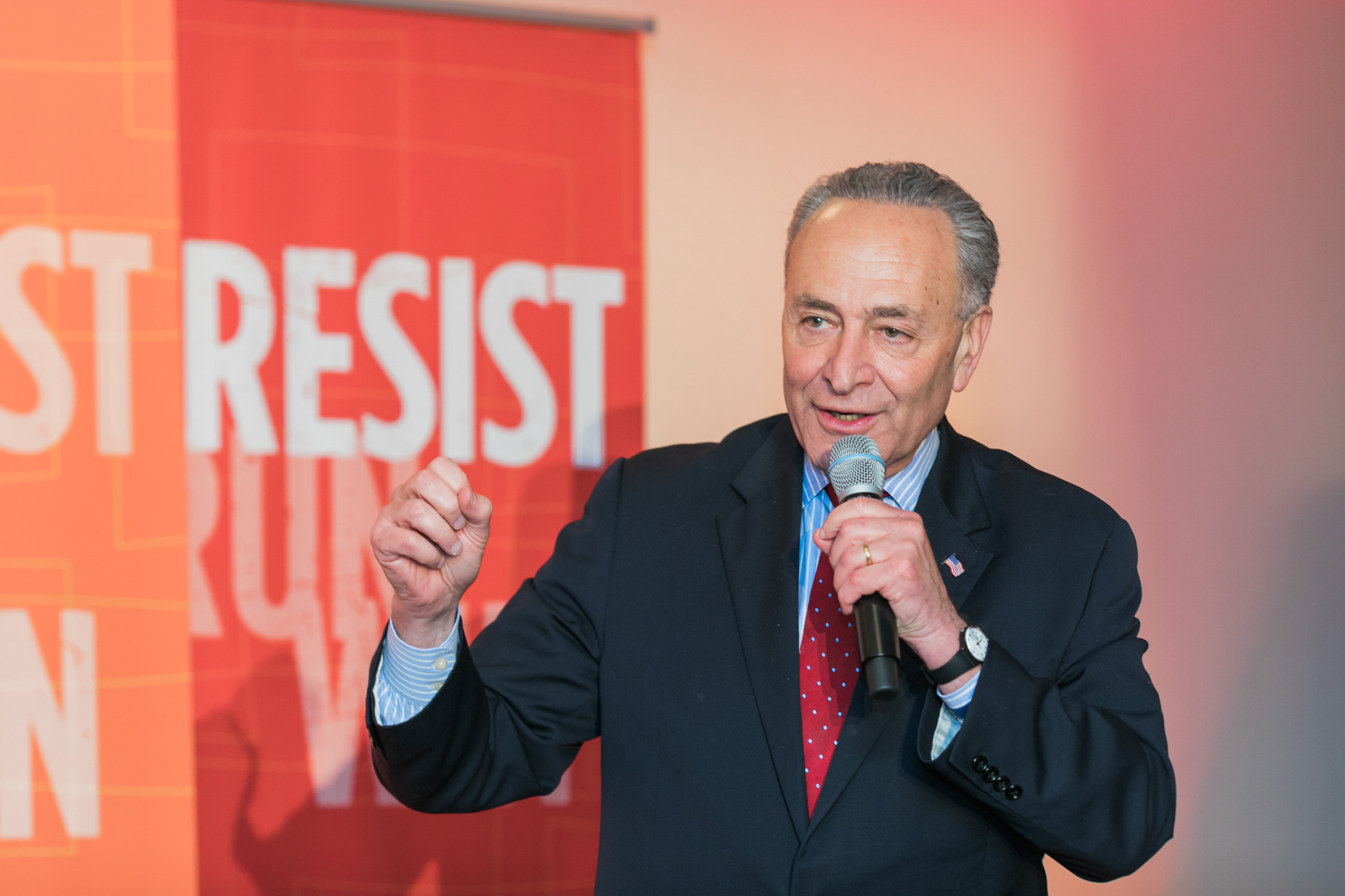 image of Senator Chuck Schumer at EMILY's List National Conference and Gala
