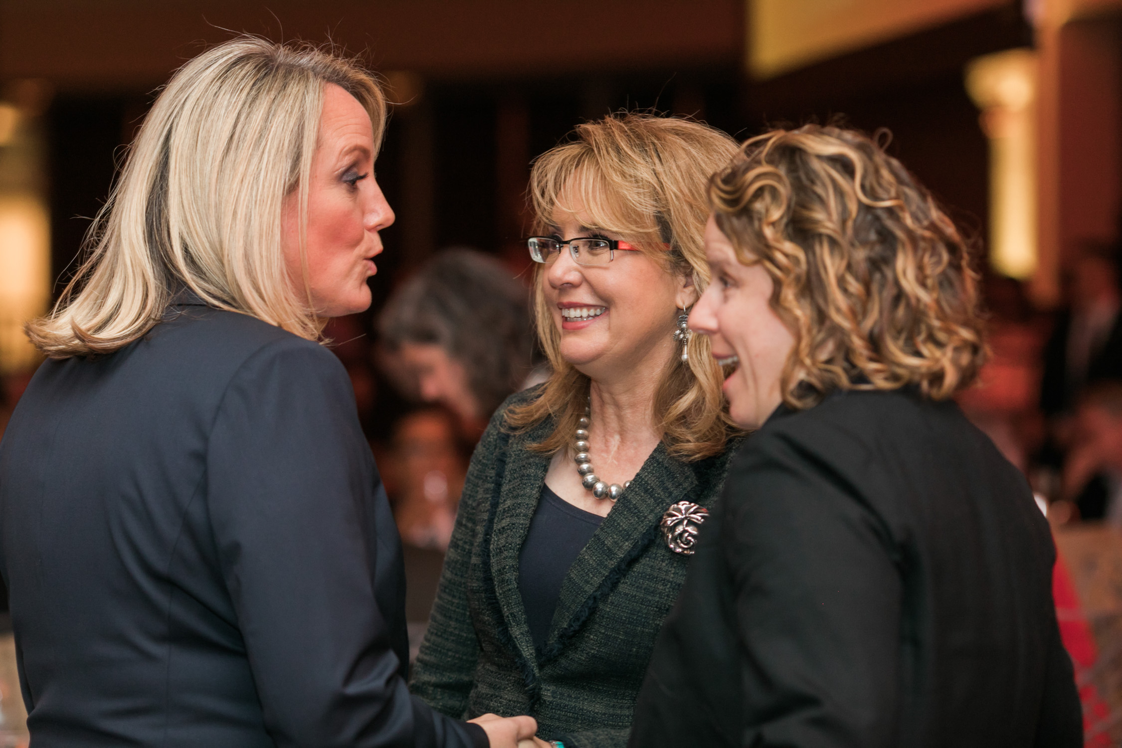 image of Gabby Giffords and Stephanie Shriock at EMILY's List National Conference and Gala
