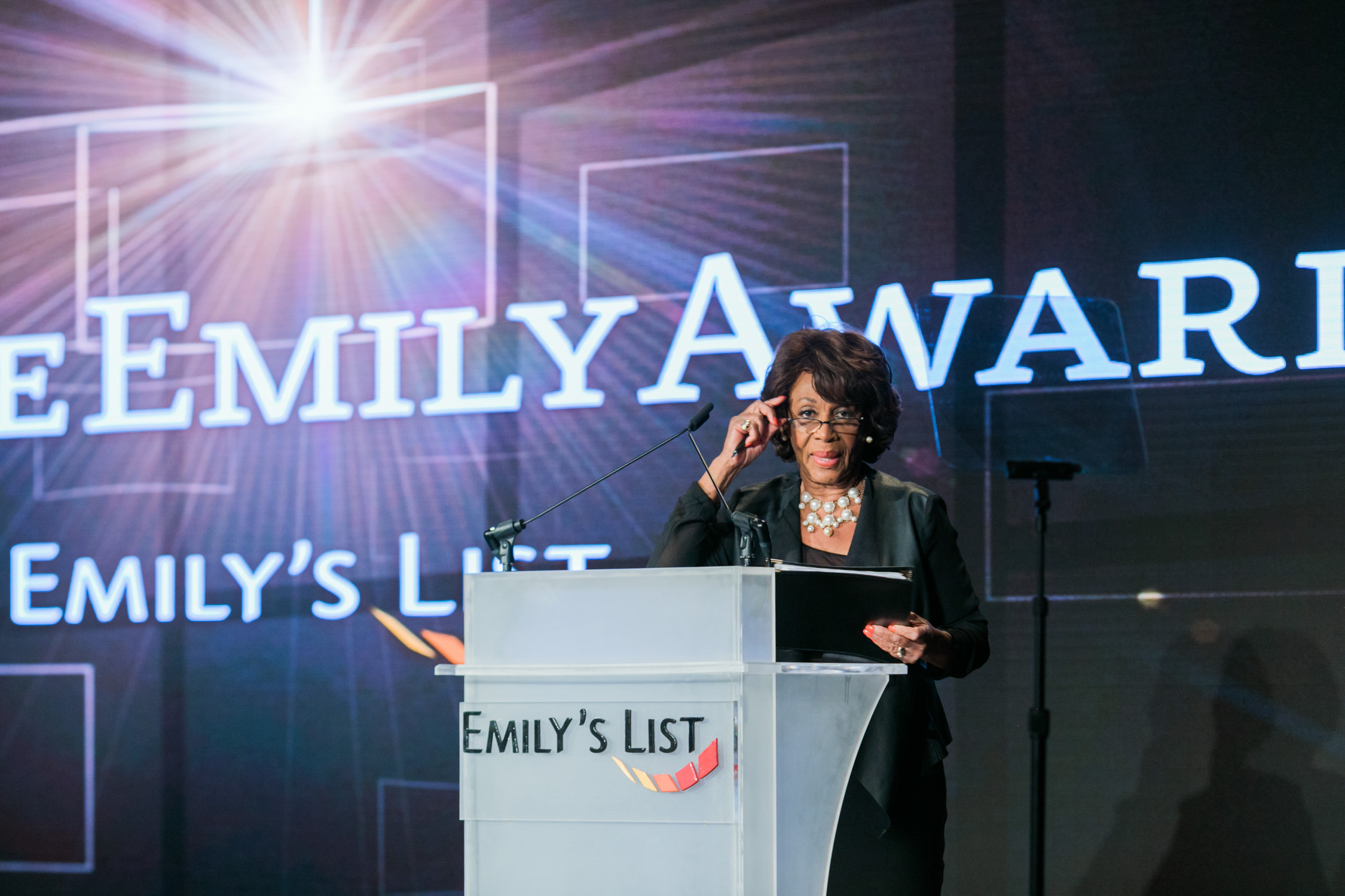 image of Representative Maxine Waters at EMILY's List National Conference and Gala