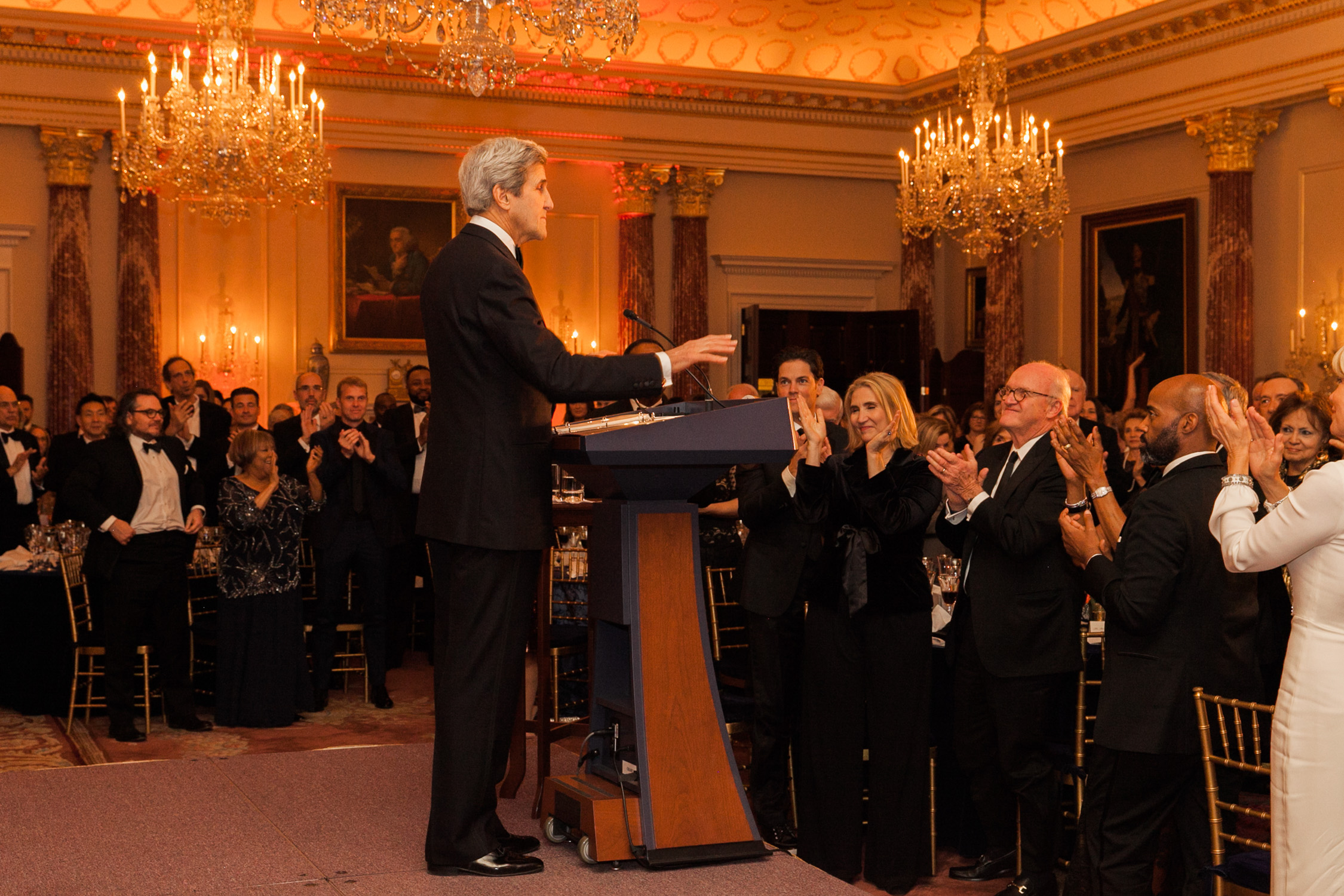 image of Secretary of State John Kerry at the State Department Dinner for Kennedy Center Honors
