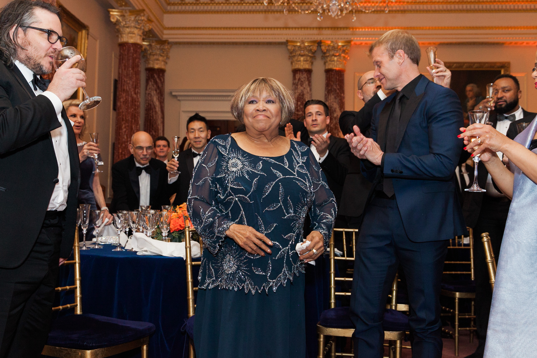 image of Mavis Staples at the State Department Dinner for Kennedy Center Honors