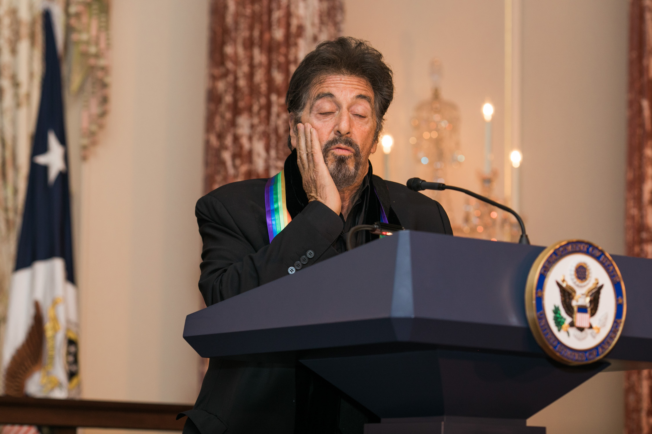 image of Al Pacino at the State Department Dinner for Kennedy Center Honors