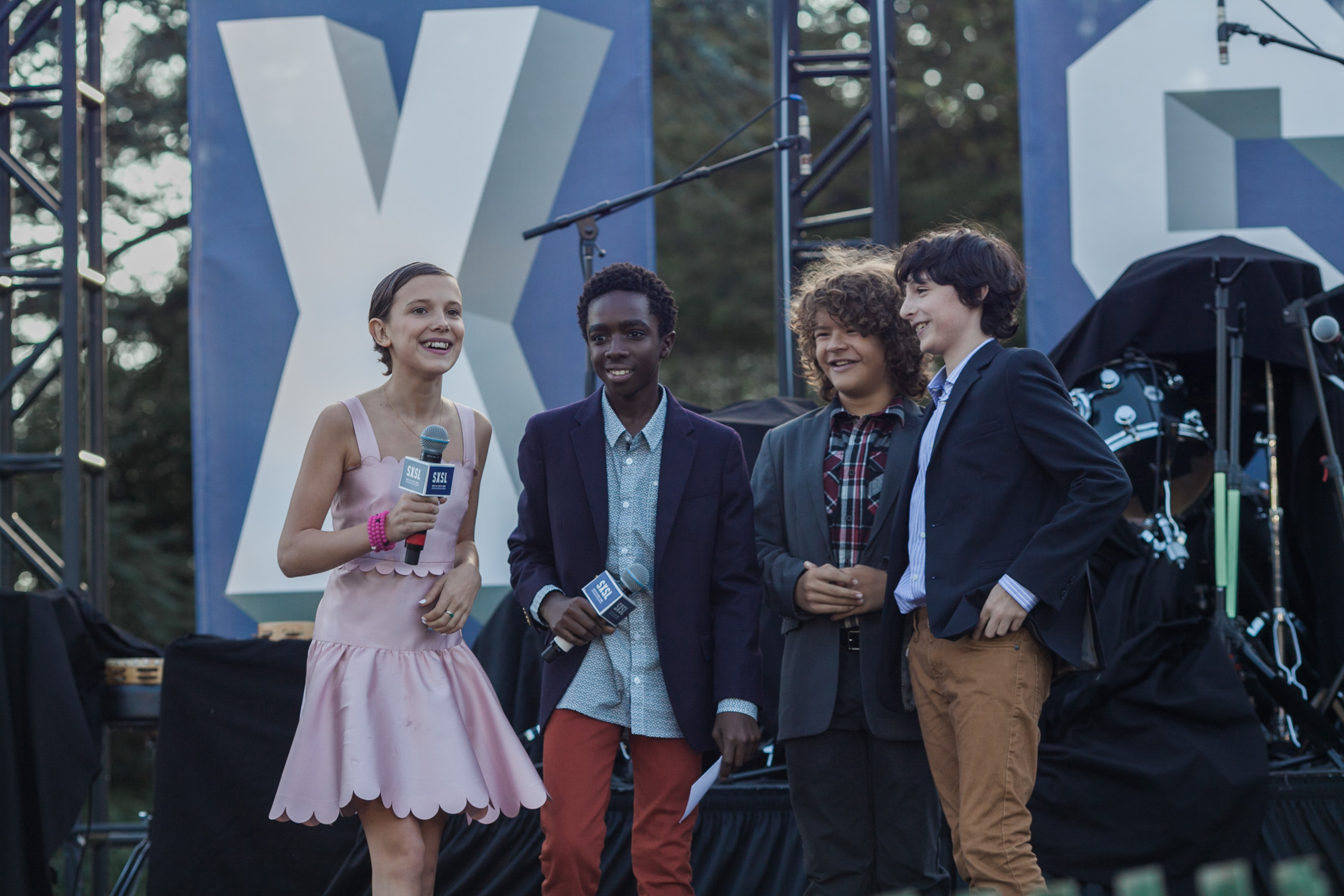 image of cast of Stranger Things at SXSW festival during Obama Administration on South Lawn of the White House