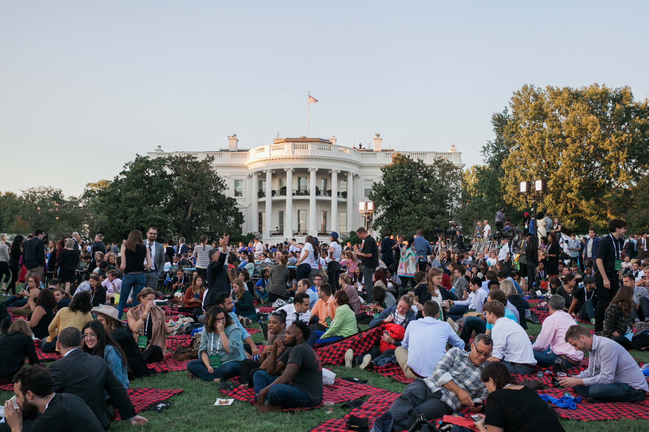 image of SXSW festival during Obama Administration on South Lawn of the White House