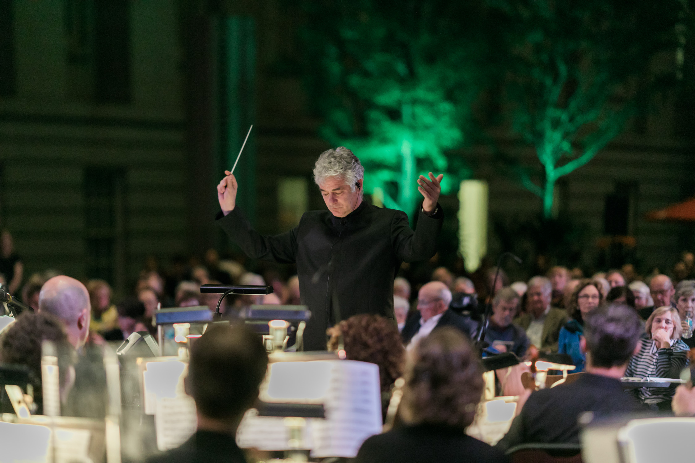 image of National Symphony Orchestra SHIFT festival at Kogod Courtyard of National Portrait Gallery in Washington DC