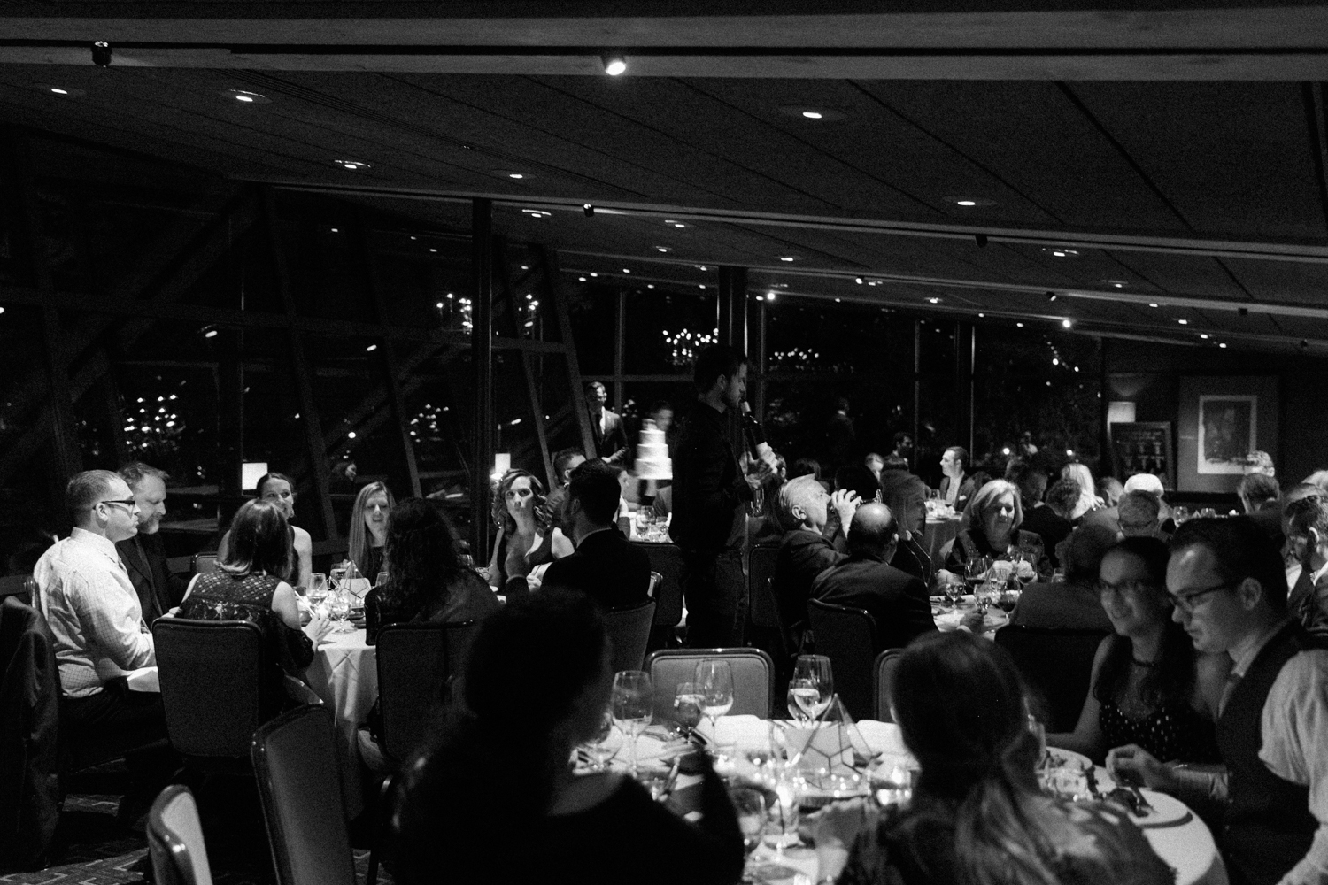 image of Canlis wedding reception at Canlis restaurant in Seattle