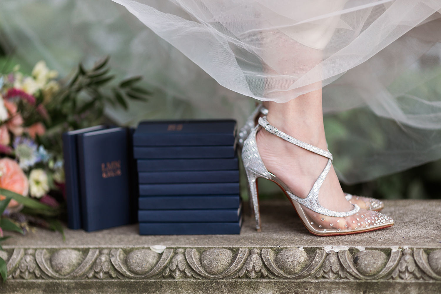 Shinola wedding at Red Lion Inn wedding Stockbridge MA Laboutin heels