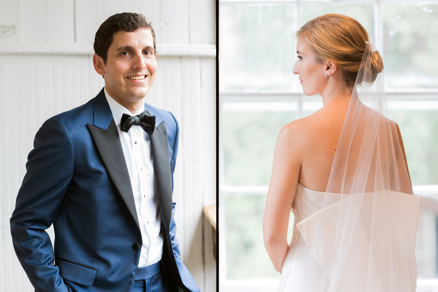 Georgetown wedding - Classic bride and groom